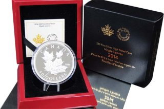 Kanada 2014 - Maple Leaf 5 Oz Silber PP*